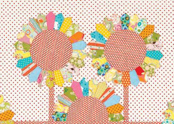 Applique Quilt Blocks: A Dotty Garden by Sarah Fielke