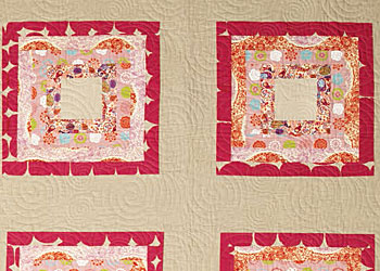 Simple Quilt Blocks: Linen Square Block Quilt by Siobhan Rodgers