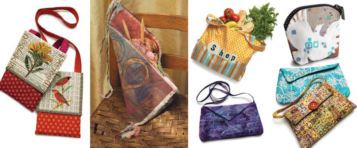 Get all seven free quilted bags, handbags and purses designs.