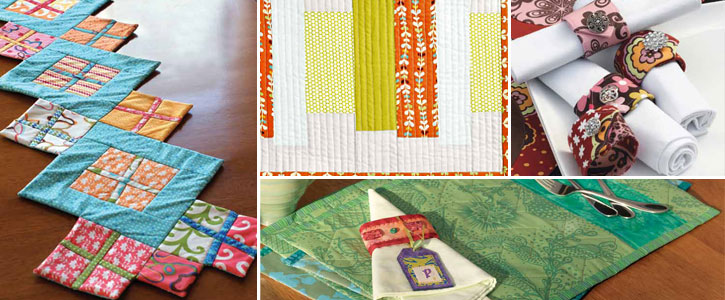 Free Patterns for Quilted Placemats, Napkins, and Quilted Table Runners