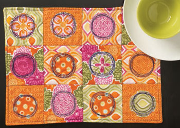 Beginners Quilting: Free-motion Stitched Placemats by Helen Gregory