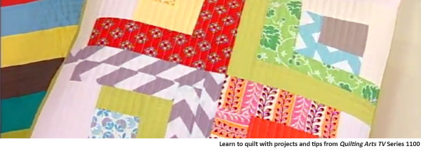 Get tips on quilting for beginners, advanced to basic quilting techniques, and more with Quilting Arts TV Series 1100