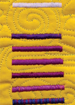 Discover all sorts of sewing machine and quilting stitches, including satin stitch, with this eBook.