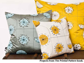 Learn custom fabric printing and painting techniques with The Printed Pattern Book