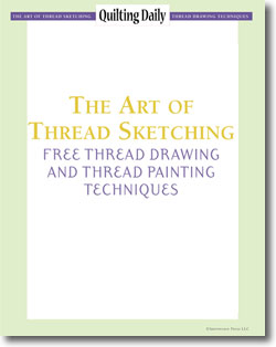 Don't forget! Download your 4 free thread drawing and thread painting techniques.