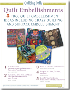 Download your free eBook of quilt embellishment ideas.