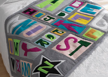 Free Baby Sewing Patterns: Sewing Blankets, Jackets and More for ... : alphabet baby quilt pattern - Adamdwight.com