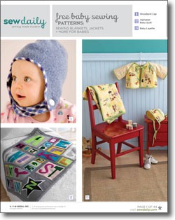 Download your free baby sewing patterns eBook now!