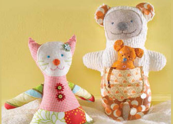 Easy Hand Sewing Projects: Pretty Cat, Baby Bear and Mini Mouse by Heidi Boyd