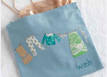 Hand Applique Bag: Travel Lingerie Bag by Blair Stocker