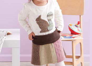 Hand Sewing Patterns: Woodland Sweater Skirt & Applique Top by Amanda Norell