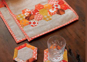 Handsewing Placemats and Coasters: Hexagon Place Mats and Coasters by Rashida Coleman-Hale