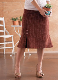 Skirt Sewing Patterns: One Pleat Skirt