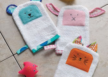 Free Bath Mitt Sewing Patterns: Bath Time Buddies