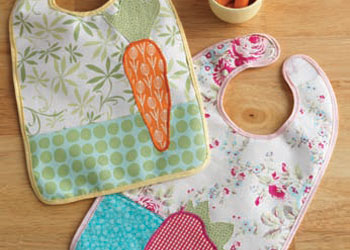 Free Baby Bib Pattern: Springtime Bibs