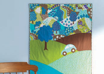 Free Kids Quilt Patterns: Hilltop Drive Baby Quilt
