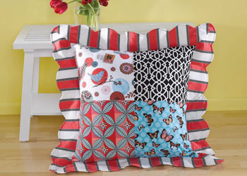 How to Sew Pillows Pattern 1: Fabulous Floor Pillow