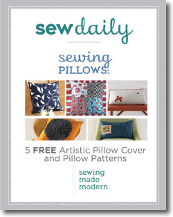 Download your free eBook of pillow cover and pillow patterns!