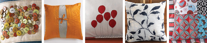 Get instructions for how to sew a pillow and pillow cover to make each of these designs.