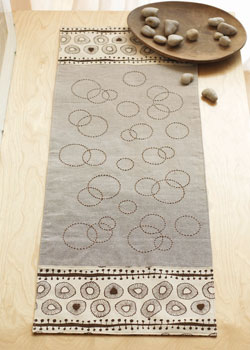 Get this free table runner pattern, plus two more with this free eBook.