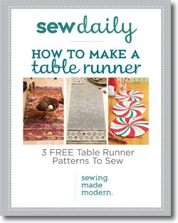 Download your free table runner patterns eBook.