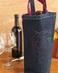 Upcycled Clothing Project 3: Recycled Denim Wine Tote