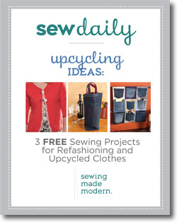 Free eBook of sewing projects and unique upcycling ideas.