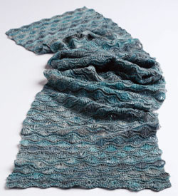 Free Scarf Knitting Patterns: Morning Surf Scarf