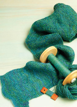 Learn how to use your handspun yarn when knitting scarf patterns.
