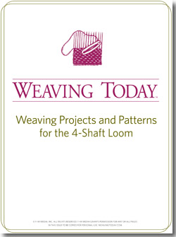 Weaving on 4-shaft looms