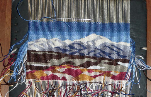 This DIY tapestry tutorial will teach you how to weave a postcard!