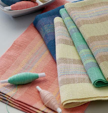 weaving towels and placemats