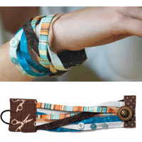 Free Project: Fabric Art Bracelets
