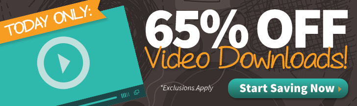Save 65% on Video Downloads
