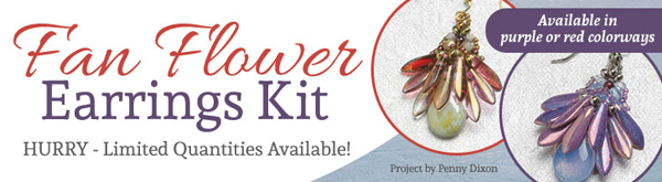 Fan Flower Earrings Kit