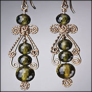 Beaded Victorian Earrings