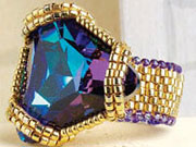 Empress's new jewels peyote stitch ring