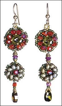 Crystal Flowerett Earrings
