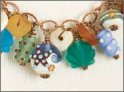 Glass bead wire-wrapped dangles