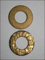 large bronze washers