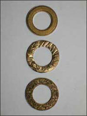 small bronze washers
