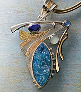 Semiprecious stone and metal Pendant