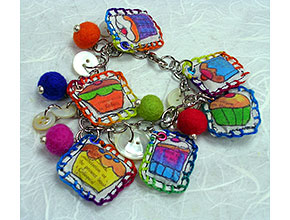 Stitched-image charms