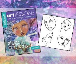Art Lesson 3 + Jane's Stencils