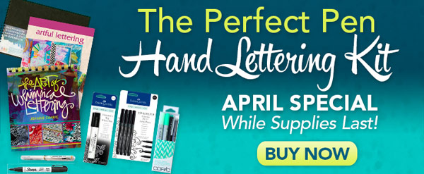 The Perfect Pen Hand Lettering Kit