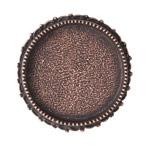 Ornate Grande Brooch Circle Antique Copper
