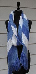 Blue Stripe Scarf