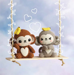 Crocheted Amigurumi Monkey