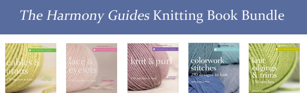 harmony guides knitting book bundle