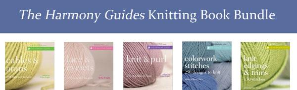 harmony guides knitting book bundle